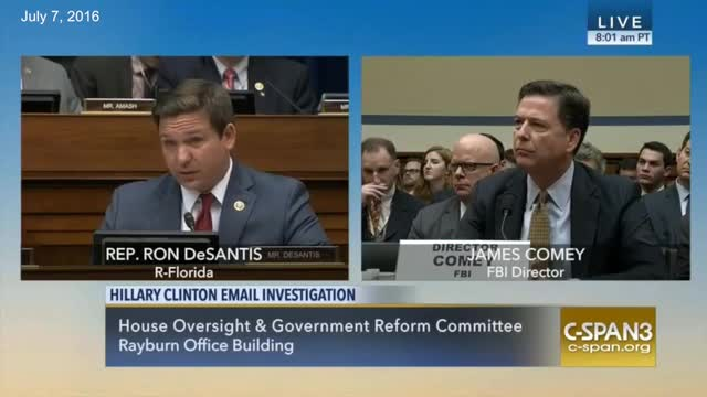 Comey: 'It Is Possible Hostile Actors Gained Access to Secretary Clinton's Personal Email Account'