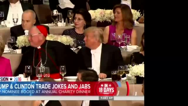 NBC Claims Trump Booed by 'His Crowd' at Al Smith Dinner