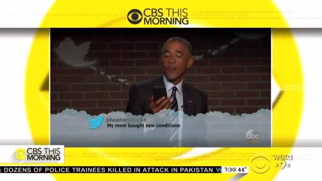 Networks Fawn Over Obama's Anti-Trump 'Phone Drop Moment' on 'Kimmel'