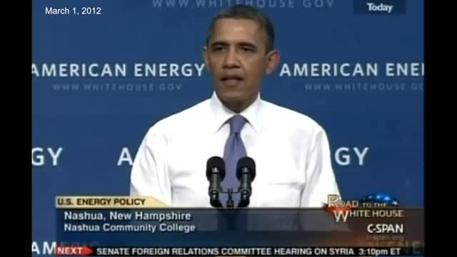 Obama in 2012: 'We Can't Drill Our Way to Lower Gas Prices'