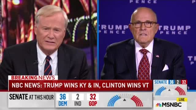 Chris Matthews to Rudy Giuliani on Election Night: 'Are you proud' of supporting Trump?