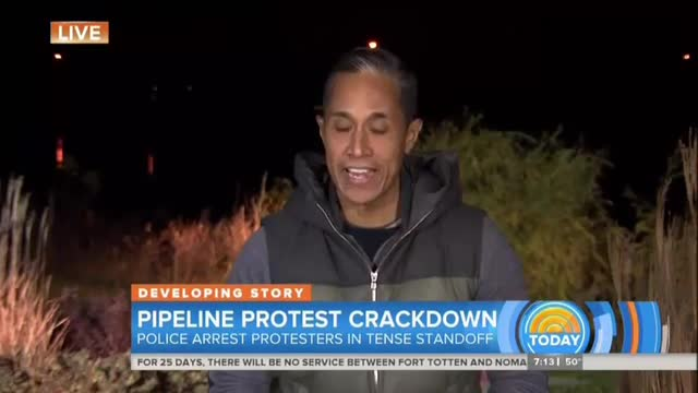 Today Coverage of DAPL Protest - Oct. 28, 2016