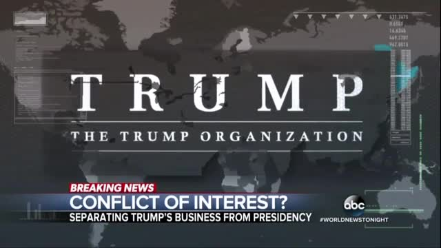 ABC Harps on Trump's Conflicts of Interest, Not for Clinton's