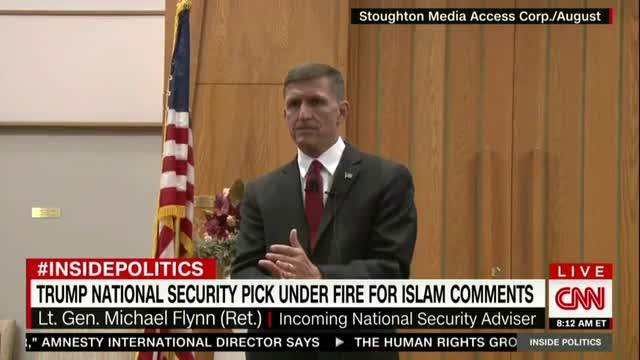 CNN Distorts Flynn to Appear He Claimed 'All' Muslims Have a 'Cancer' within Them