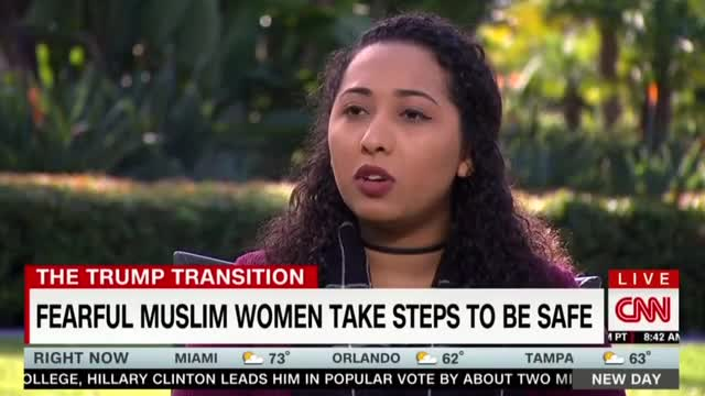 CNN Touts Muslim Woman 'Fearful' After Trump Win; Omits Her Activism