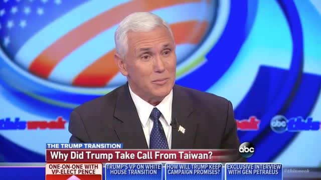 Pence: Obama Can Reach Out to Cuban Dictator, But Trump Can't Take Call From Taiwan's Leader?