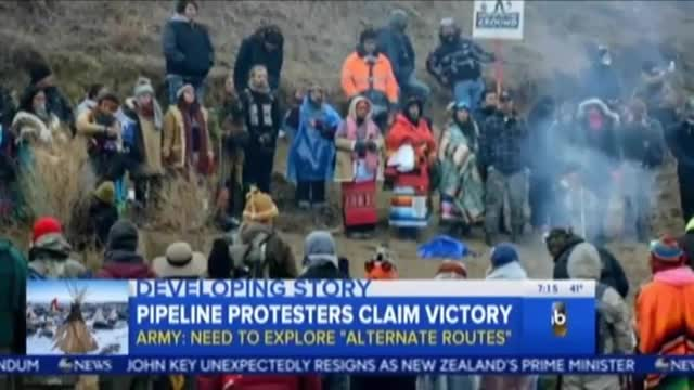 ABC Good Morning America Covers Celebrities Supporting #NoDapl Protests 12-5-16