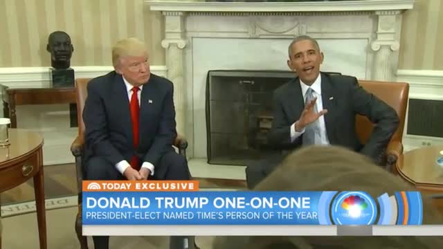 Trump, Time's 'Person of the Year,' Says He's Getting Input From Obama on Some Nominees