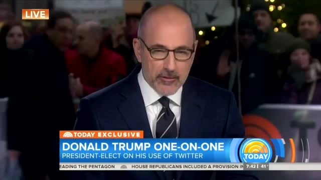 Trump to Lauer: Posting on Twitter Better Than 'Dealing With Dishonest Reporters'