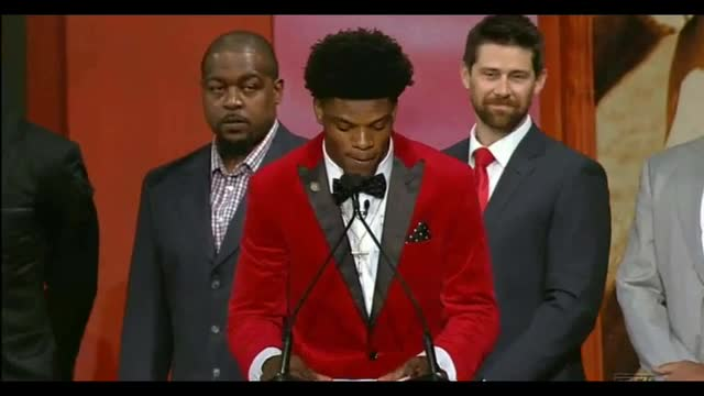 Heisman Winner Lamar Jackson: 'First and Foremost...I Want to Thank My Lord and Savior, Jesus Christ'
