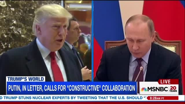 MSNBC Is 'a Bit Lost' on Trump's Russia Policy, Chides Use of Twitter
