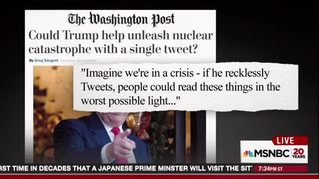 MSNBC's Hayes Fear Trump 'Could Literally' Trigger Nuclear Armageddon