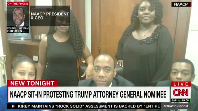 ABC, CNN Hype NAACP's Anti-Jeff Sessions Sit-In