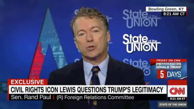 Rand Paul: 'Being a Civil Rights Icon...Doesn't Makes Us Immune From Criticism or Debate'