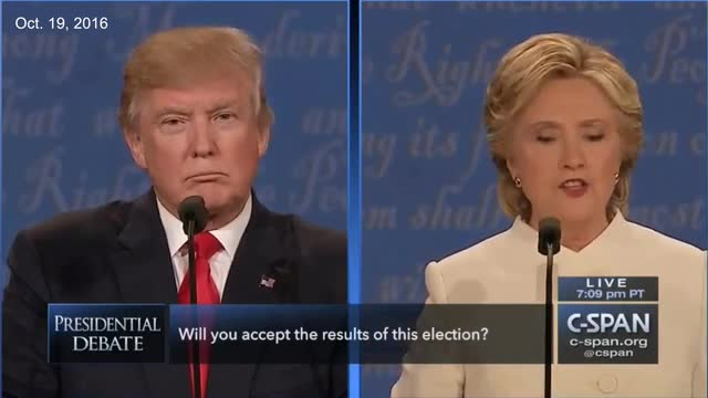 FLASHBACK: Hillary on Trump's Hesitation To Accept Election Results: 'That's Horrifying,' Denigrating our Democracy