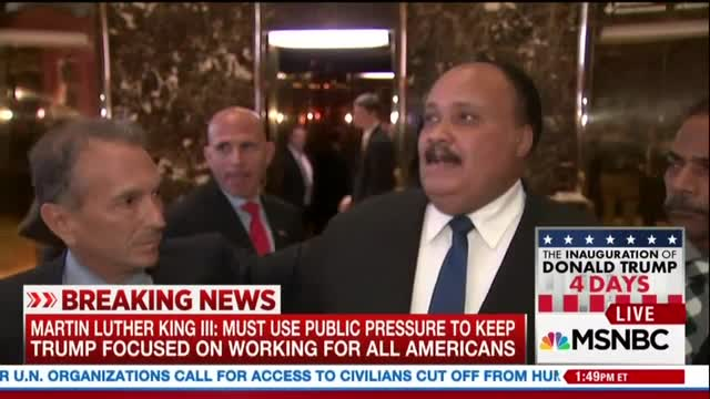 Reporters Plead with MLK III to Attack Trump; Did Lewis Tweets Shake You 'To Your Core?'