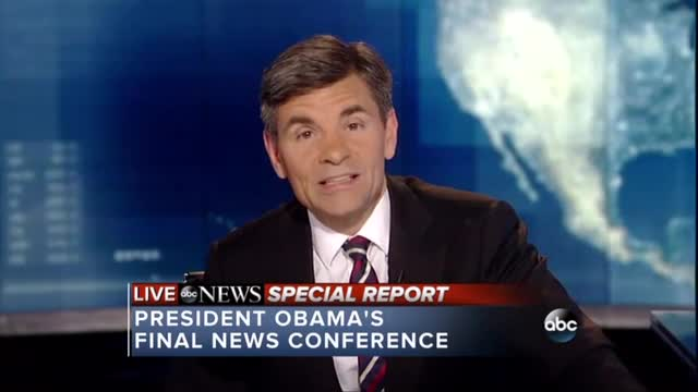 ABC's Stephanopoulos Goes All Out Reacting to Last Obama Presser; 'A Litany of Hope'