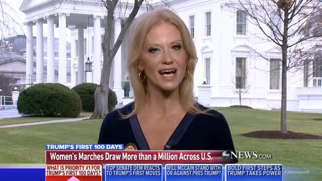 Kellyanne Conway on Women's March: 'We...Frankly Didn't See the Point'; Diatribe, Not Dialogue