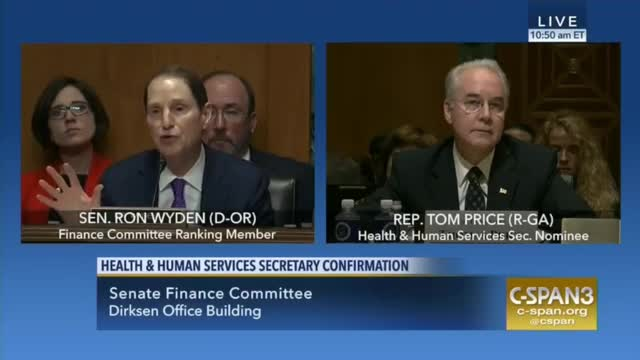 Sen. Wyden Presses HHS Nominee to Commit That 'Nobody Will Be Worse Off, Nobody Will Lose Coverage'