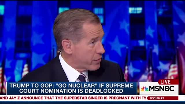 Brian Williams Warns GOP on Senate Rule Change: 'Careful What You Wish For'