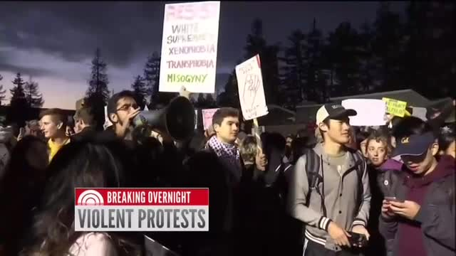 Networks Refuse to Call Berkeley Mob 'Liberals'
