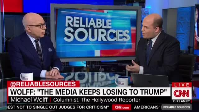 Media critic Michael Wolff to CNN's Brian Stelter: You border on 'quite ridiculous' in vilifying Trump
