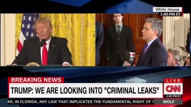Trump, CNN's Acosta Throw Down over Fake News, Media Coverage; 'You're Undermining' Us!