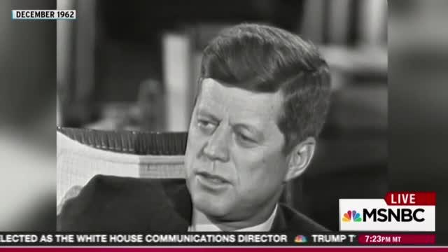 Wrong, Maddow - That was JFK flattering the press, not condemning it