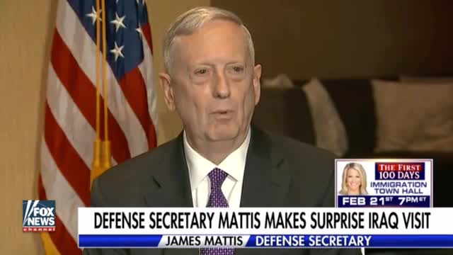 Mattis: 'We're Not in Iraq to Seize Anybody's Oil'