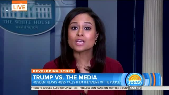 Nets Decry Trump's 'All-Out War on Journalists,' Making Press 'A Constant Boogeyman'