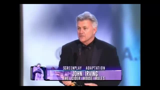 John Irving Accepts Oscar For Pro-Choice Film and Thanks Planned Parenthood