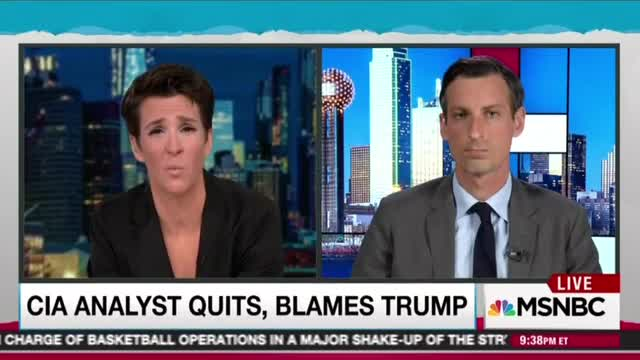 MSNBC's Rachel Maddow facilitates charade with closet partisan ex-CIA analyst