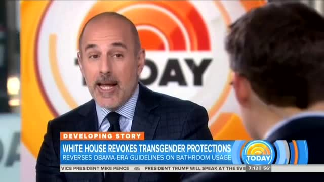Matt Lauer Fears Trump Trying to 'Fire Up' CPAC With Transgender Policy