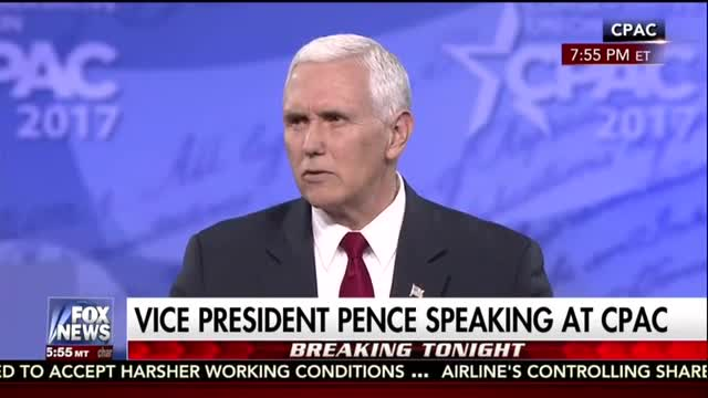 Pence Continues WH's Knocking of the Media at CPAC; They 'Amplify...the Failed Status Quo'