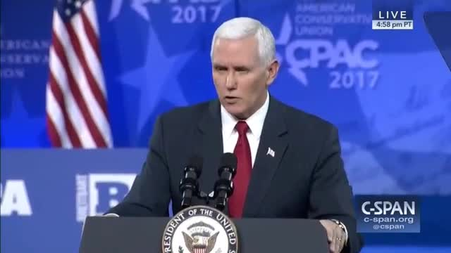 Pence to Conservatives: 'Time to Prove Again That Our Answers Are the Right Answers for America'