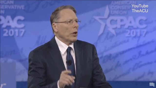 Wayne LaPierre at CPAC: 'Shameful,' 'Leftist' Media Want to Destroy Our Freedom