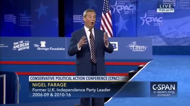 Farage at CPAC: Brexit, Trump Movements are 'For Our Communities,' Not 'Against' Any Religion or Ethnicity