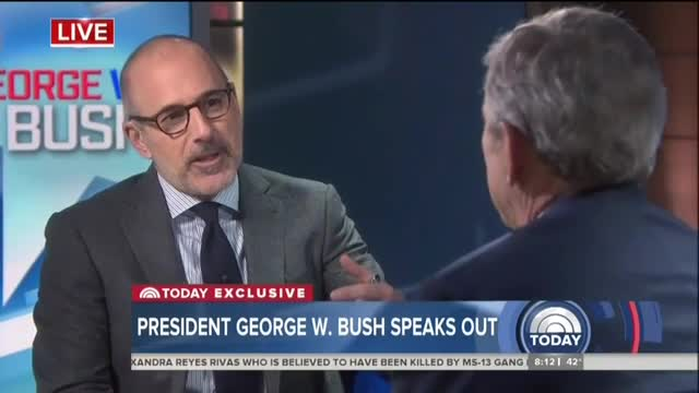 Lauer Blames Trump for Division, GW Bush Counters It's the Fault of the Media