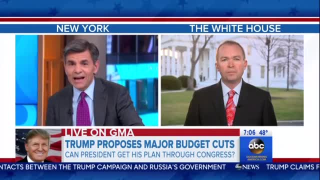 Stephanopoulos Grills Budget Director Over Trump's 'Dead on Arrival' Proposed Budget