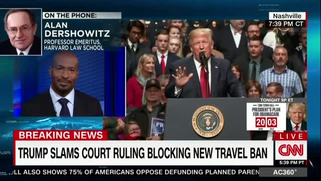Alan Dershowitz Schools Van Jones on Constitutionality of Travel Ban