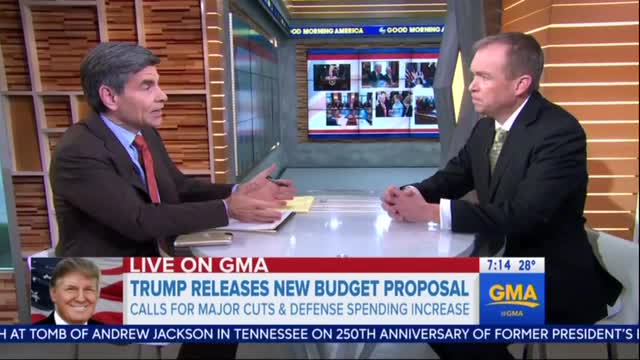 Stephanopoulos Grills Mulvaney Again Over 'Dead on Arrival' Budget