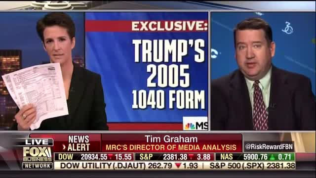 MRC's Graham Lambastes Maddow's Lame 'Dixie Cup Full of Sea Monkeys' on Trump Taxes