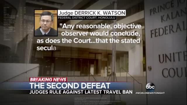 ABC Touts Liberal Judge Shooting Down Trump's Revised Travel Ban