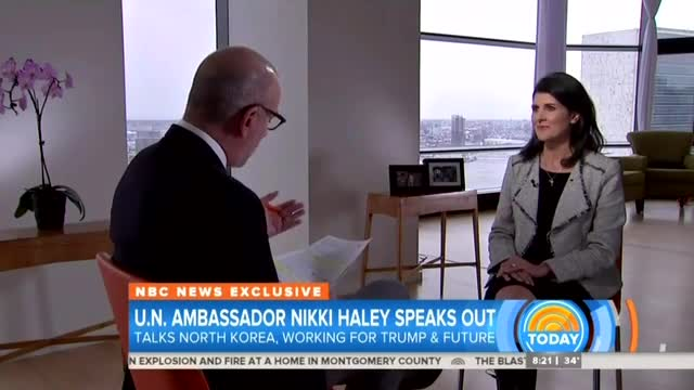 Lauer Asks Haley: Does Trump Have 'Credibility' at United Nations?