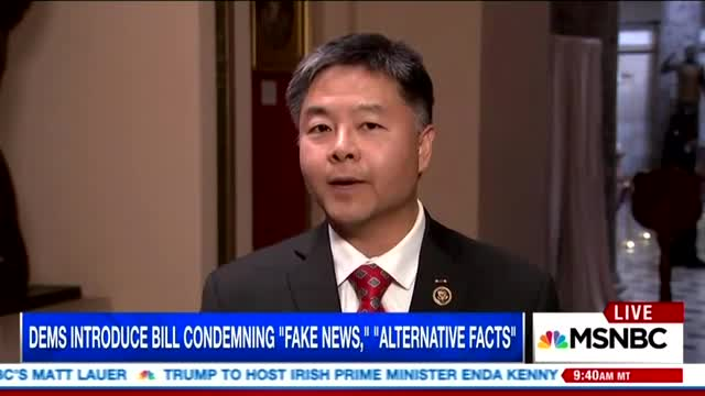 Dem Rep. Urges People to Fight 'Fake News' by Watching MSNBC