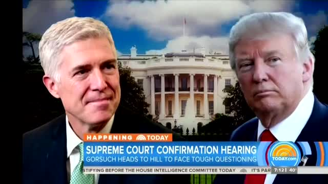 NBC, CBS Predict 'Ugly' Hearing for Gorsuch as Dems Label Him 'Extreme'