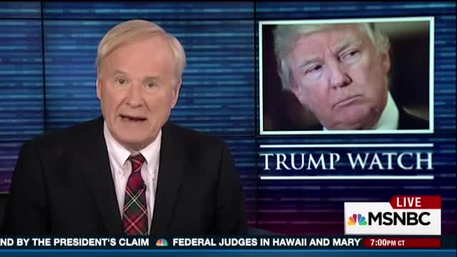 Matthews: Trump Like 'Weirdo...Who Calls In the Fire Alarm Just to Hear the Sirens'