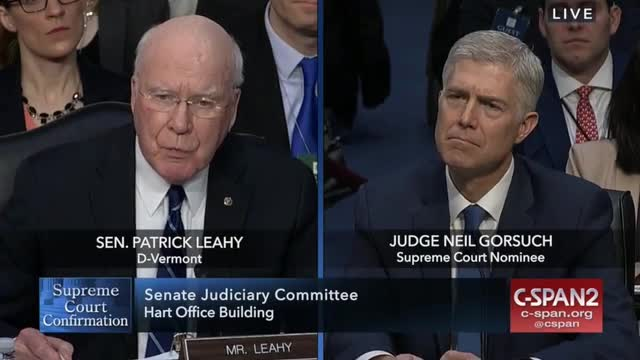 Leahy Tells Gorsuch, 'Originalism…Remains Outside the Mainstream of Moderate Constitutional Jurisprudence'