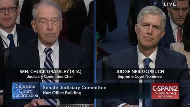Grassley Warns Gorsuch Some Questions will Cause Him to Scratch His Head