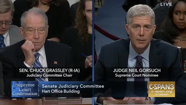 Gorsuch: 'For a Judge, Precedent Is a Very Important Thing'